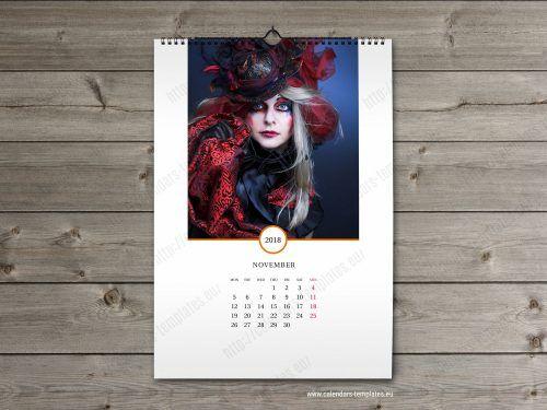2018 Month Calendar Template Wall Calendars Pinterest Photo