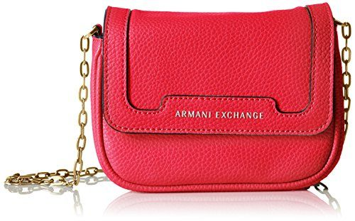 d2aa0749b3d4 AX Armani Exchange Pebbled Faux Leather Crossbody Absolute RedNavy -- Click  for Special Deals