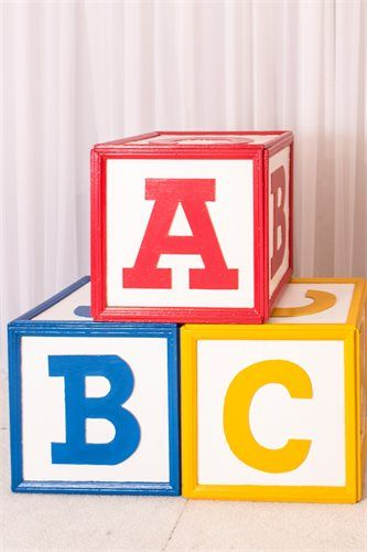 Oversized Wooden Abc Alphabet Blocks Props Block Birthday Party Block Birthday Toy Story Party Decorations