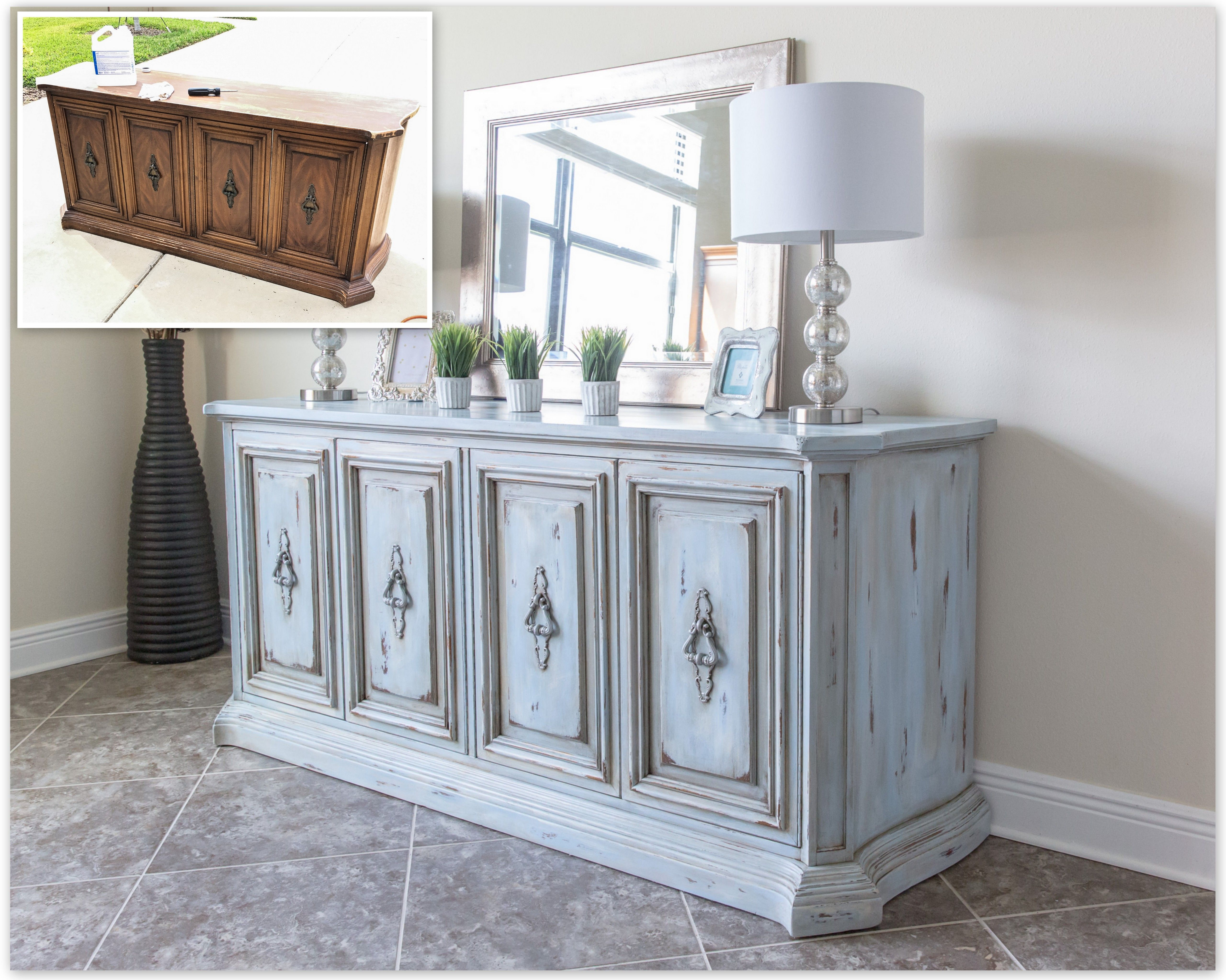 Before and After Credenza / Buffet using Annie Sloan Chalk Paint ...
