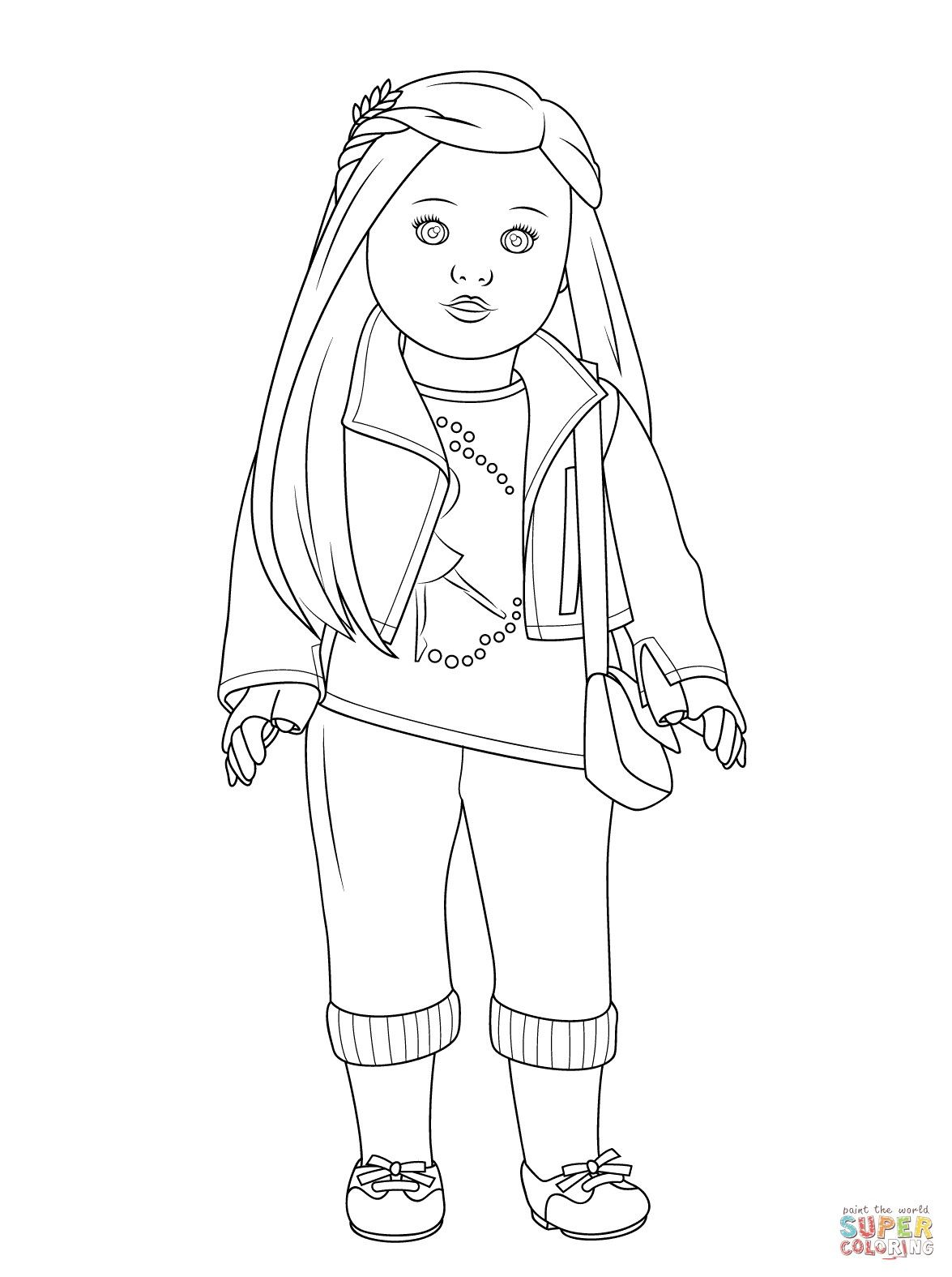 free printable american girl doll coloring pages – through
