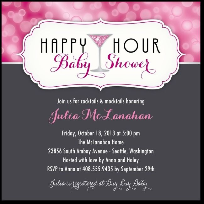 Happy Hour ShowerAzalea Baby shower ideas Pinterest Happy
