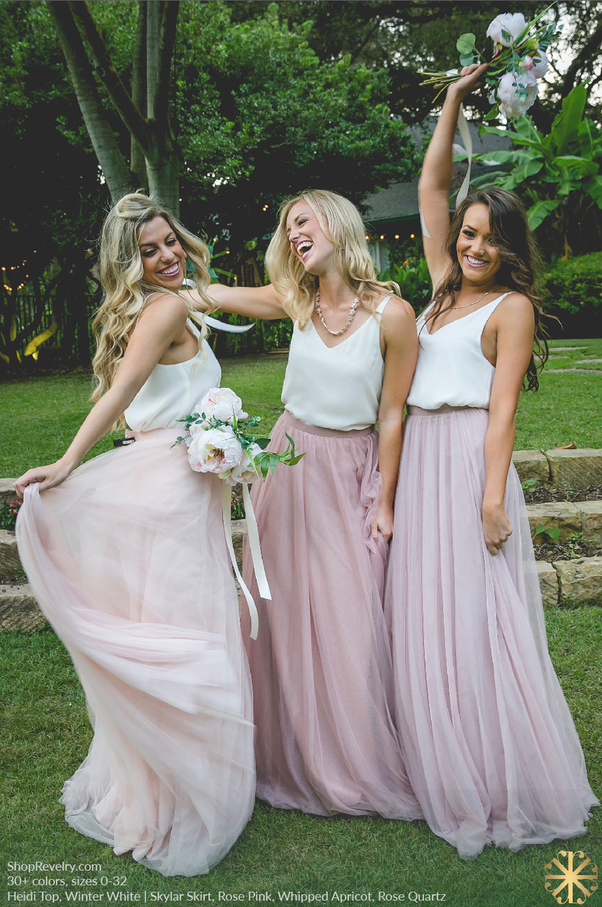 Bridesmaid Skirt And Top Separates Affordable Dresses