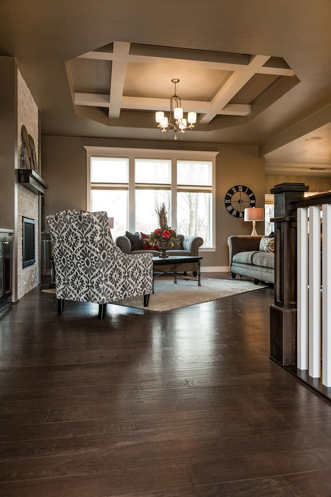 Dark Maple Living Room Hardwood Flooring Living Room Hardwood Floors Modern Style Homes Hardwood Floors