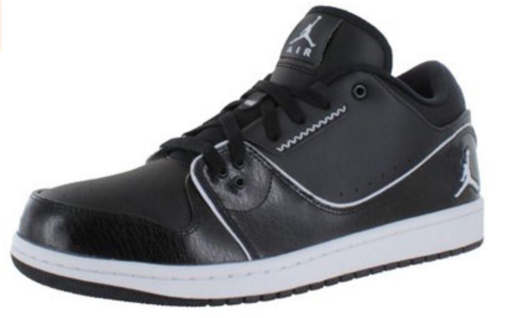 Nike Jordan 1 Flight 2 Low BG Boys Basketball 654952 010 Black/White/Black