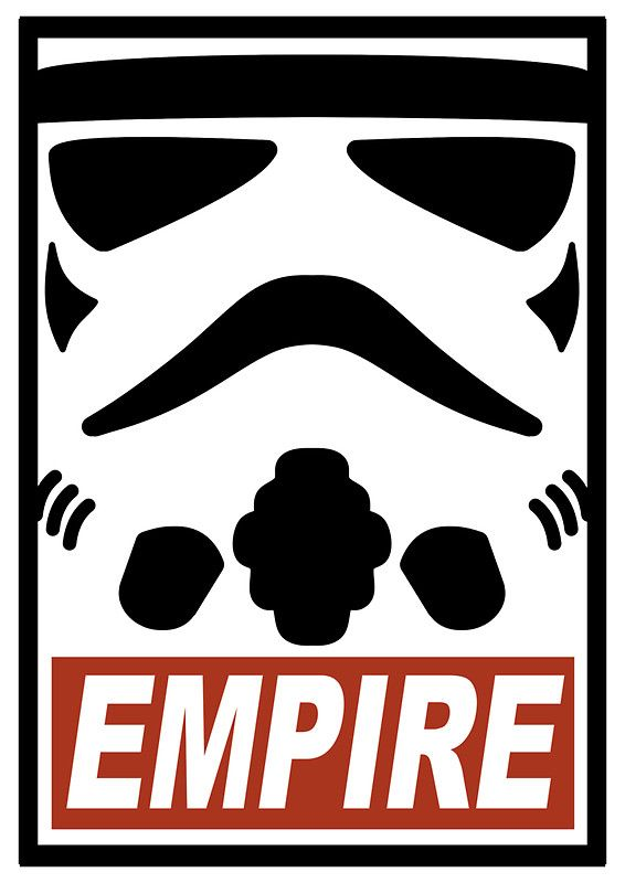 Storm trooper obey the empire star wars art pop