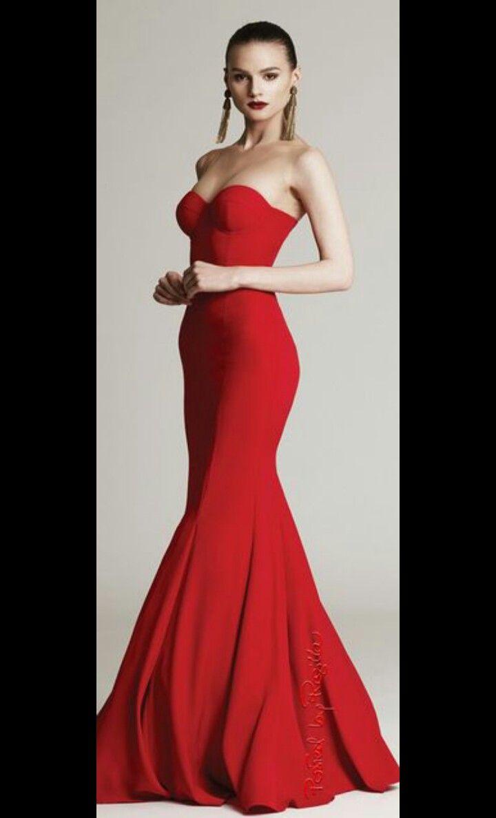 #vestidos #style #moda #linaje #rojo #hermoso #costura