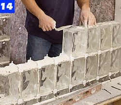 build a curved-wall glass-block shower   glass block