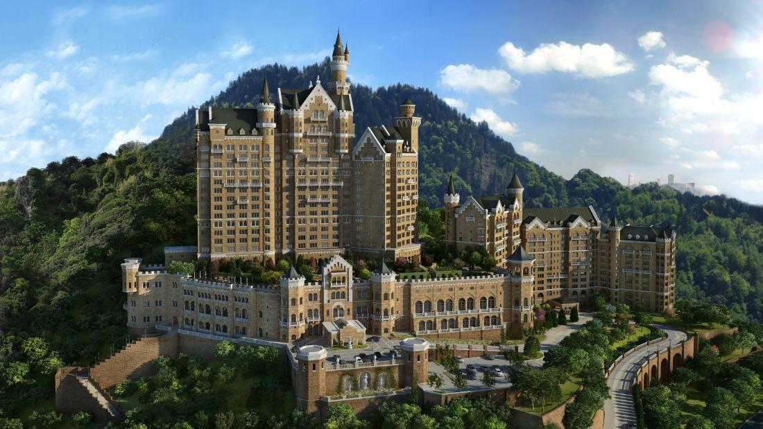 Castle Hotel China Futuristische Adaption Von Schloss Neuschwanstein Opened 2014 Bereits Realisiert Castle Hotel Starwood Hotels Luxury Collection Hotels
