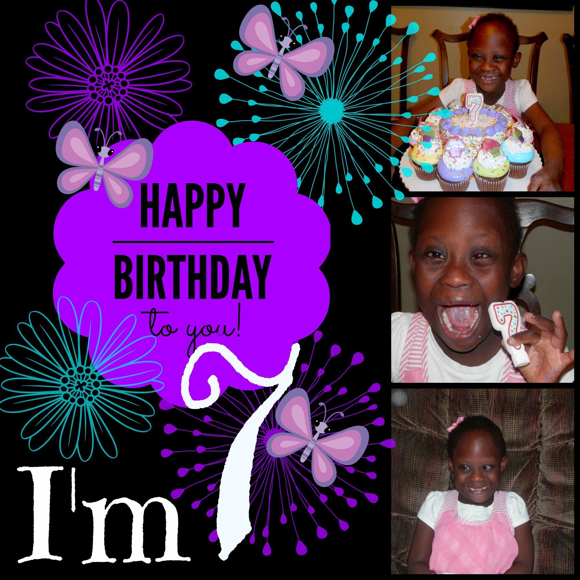 She's 7 Big Girl Years Old! Happy Birthday BKB!!