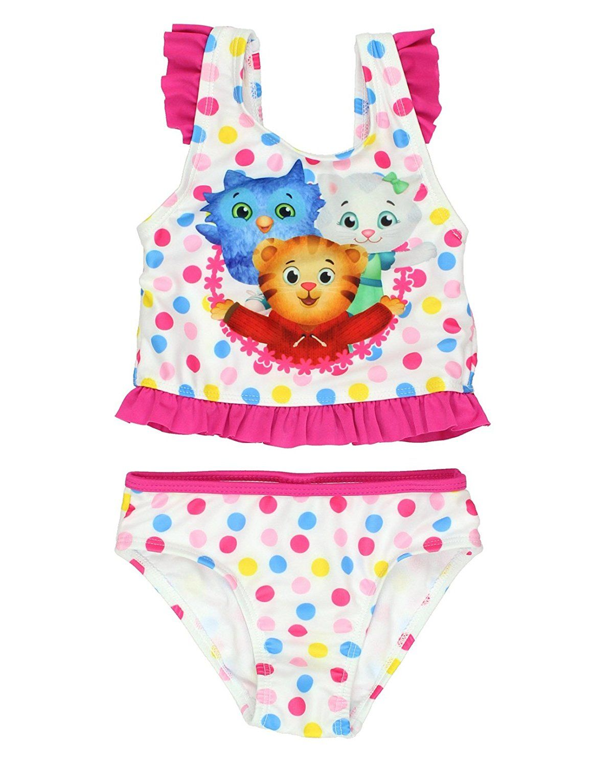 f210dc85816e Amazon.com: Daniel Tiger's Neighborhood Toddler Girls' Swimsuit: Clothing