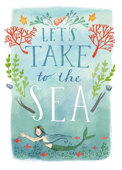 Art Print by Abigail Halpin For the Home Pinterest Mermaid
