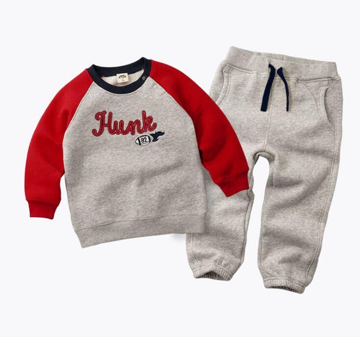 6eac5a5dc 2017 Winter Autumn Kids Thicken clothing suit Baby Boys Girls Plus Velvet  Hoddies t shirt +Pants Cotton Children's Clothes set - Baby clothes, Kids  Clothes, ...