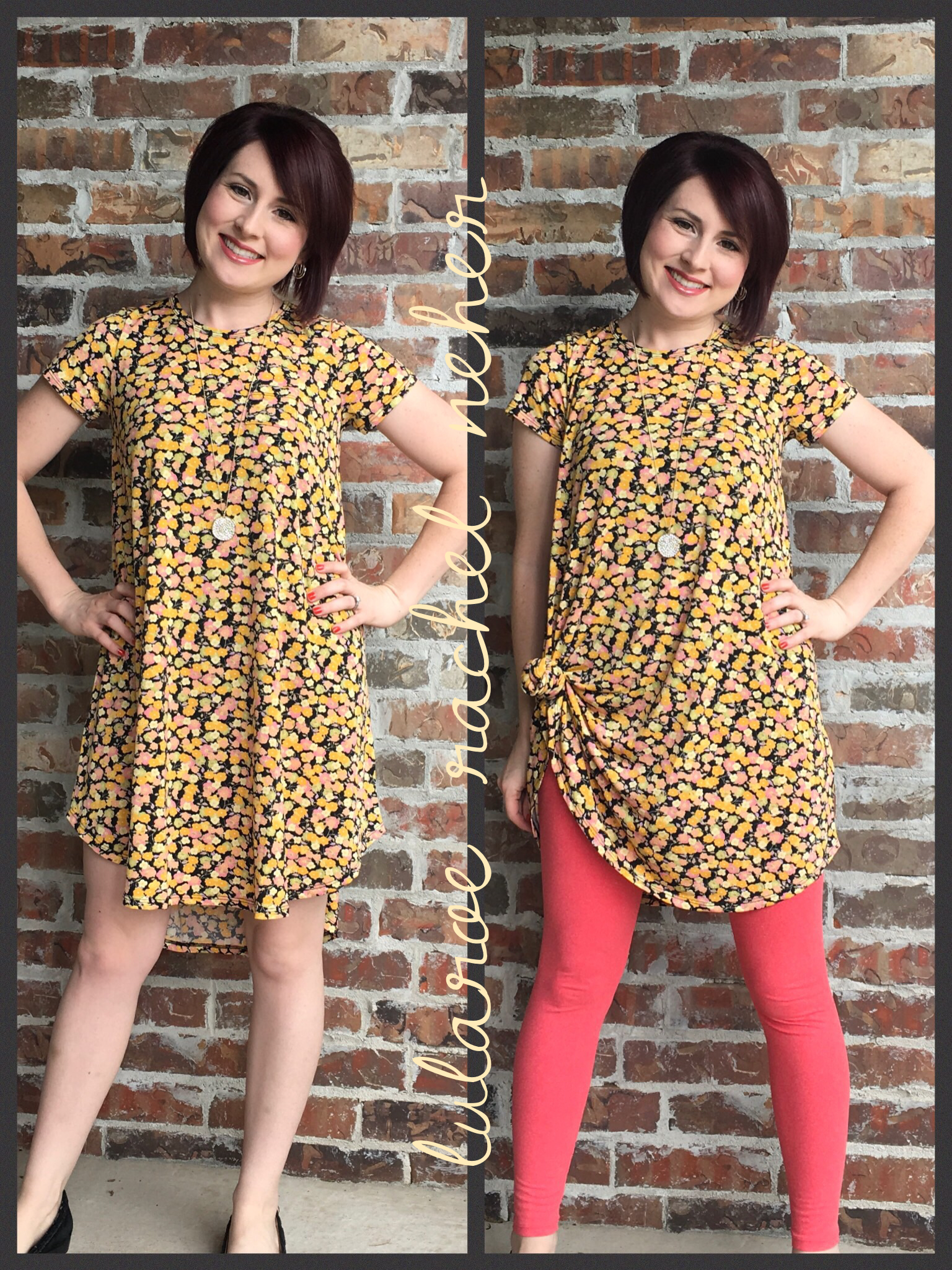 6f1fc5044 The LuLaRoe Scarlett dress is perfect for petite ladies! With or without  leggings, it