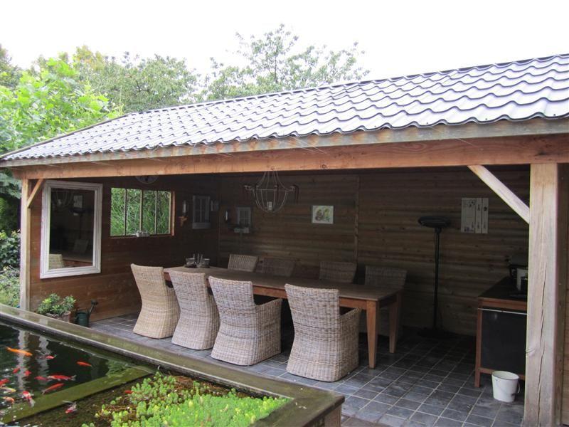 Tuinhuis met overdekt terras google zoeken tuinhuis en andere tuinidee n pinterest - Luifel ontwerp voor patio ...