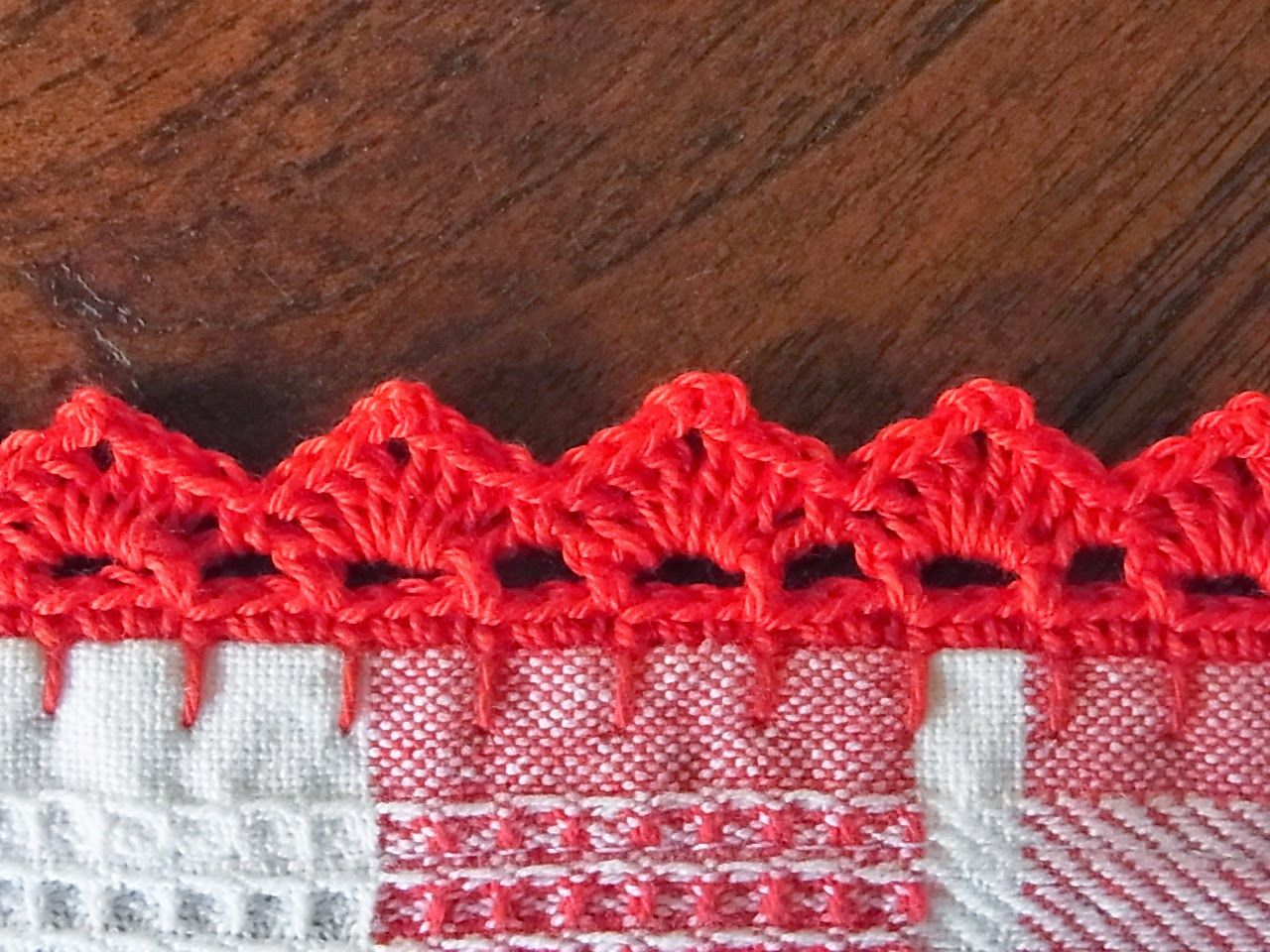 Tea Towel With Crochet Edge And Pattern Mari Kari Ideas For The