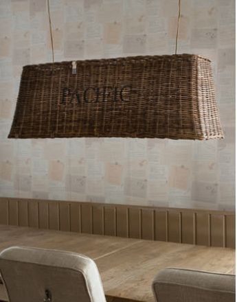 Verbazingwekkend Riviera Maison Rustic rattan hanging lamp 'Pacific' 159 VG-09