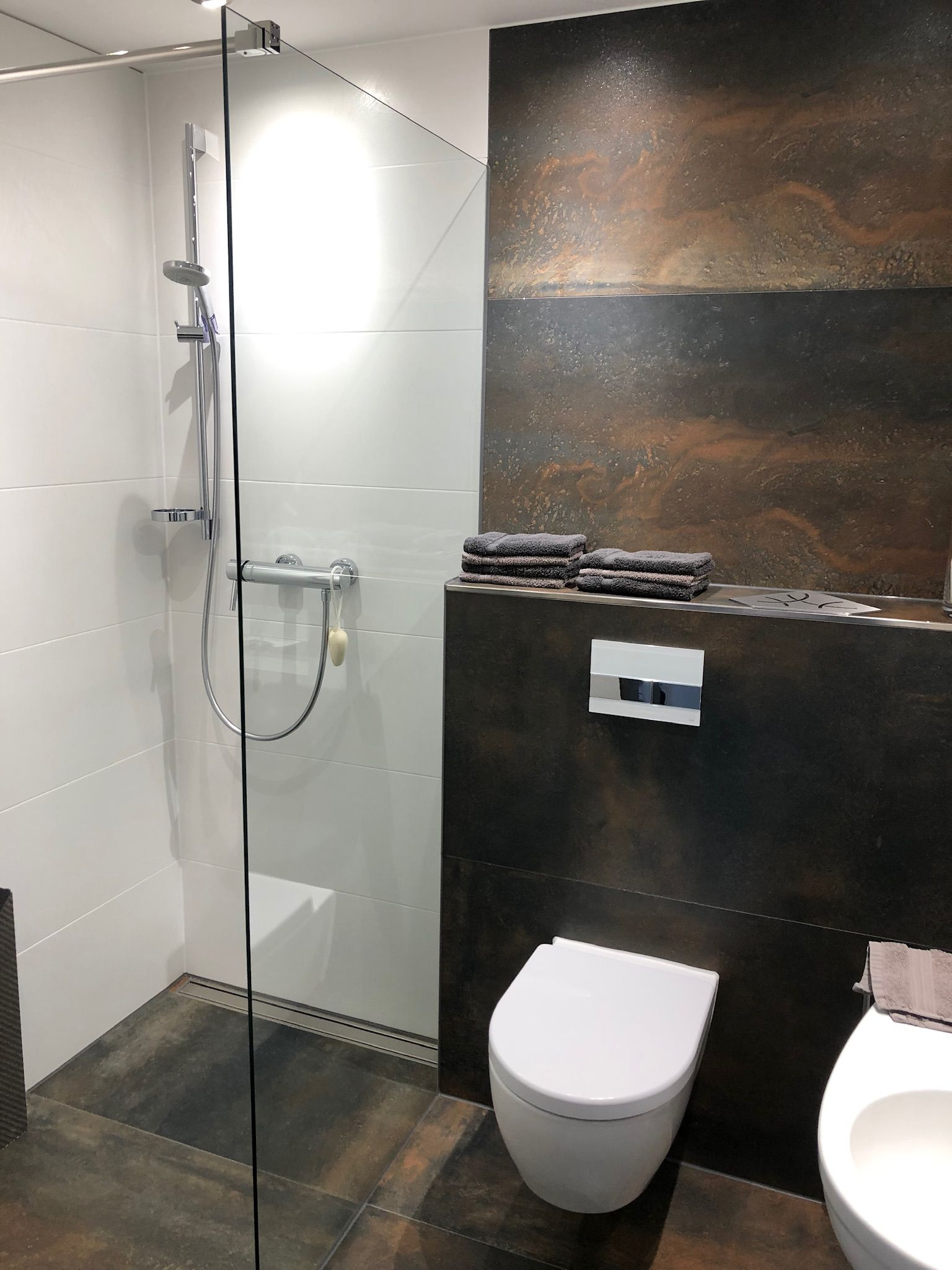 Fliesen Mix Wand Wc Badezimmer Beige Badezimmer