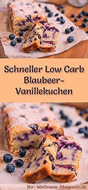Photo of Saftiger, schneller Low Carb Blaubeer-Vanillekuchen – Rezept ohne Zucker