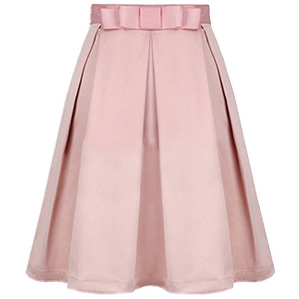 Blackfive Bowknot Detailed Pleated Md-long Skirt (€20) ❤ liked on Polyvore featuring skirts, blackfive, bottoms, pink, pink skirt, pink pleated maxi skirt, floor length skirts, pink long skirt and ankle length skirt