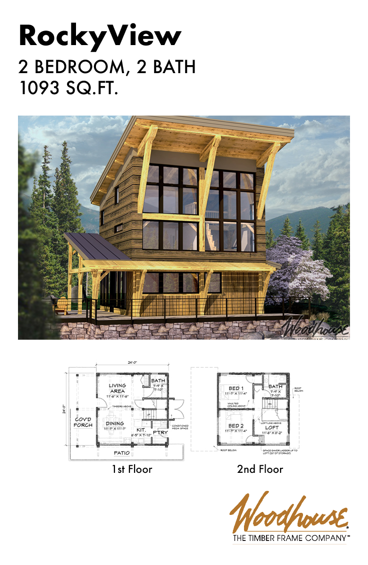 This Modern Timber Frame Mountain Home Has Massive Windows To Overlook Your Favorite View And Small Timber Frame Plans Timber Frame Building Timber Frame Plans