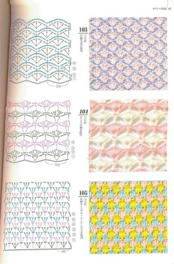 Gráfico1.jpg (1051×1600)   crochet stitches - puntadas en crochet ...