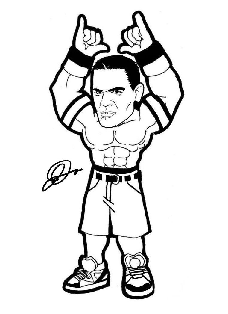 John Cena By Abnormalchild On Deviantart John Cena Coloring Pages For Kids Coloring Pages