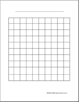 Graph Paper 10x10 Abcteach Preschool Graphs Graphing Worksheets Graphing