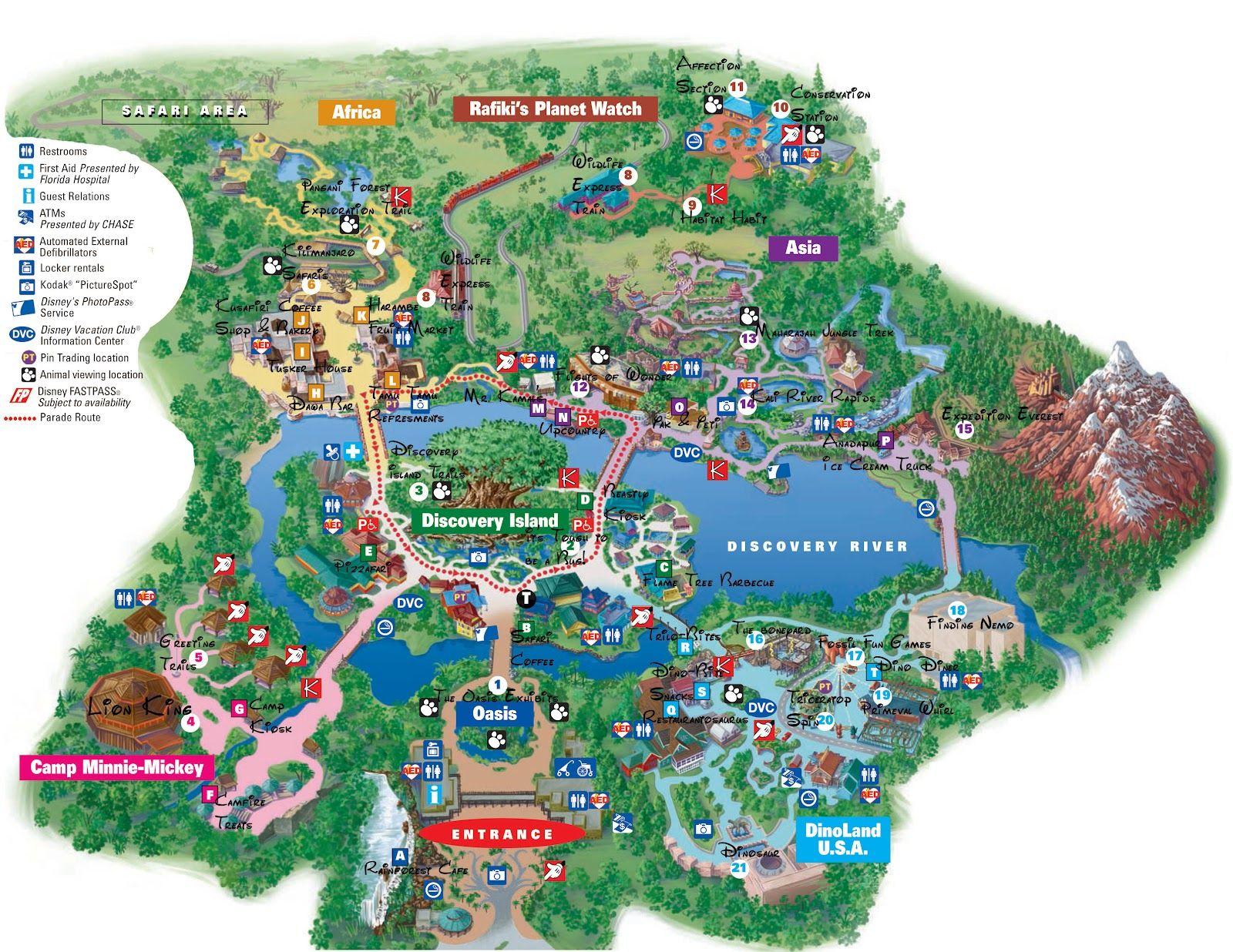 disneyworld map | Disney World Adventure | Travel - Theme ... on