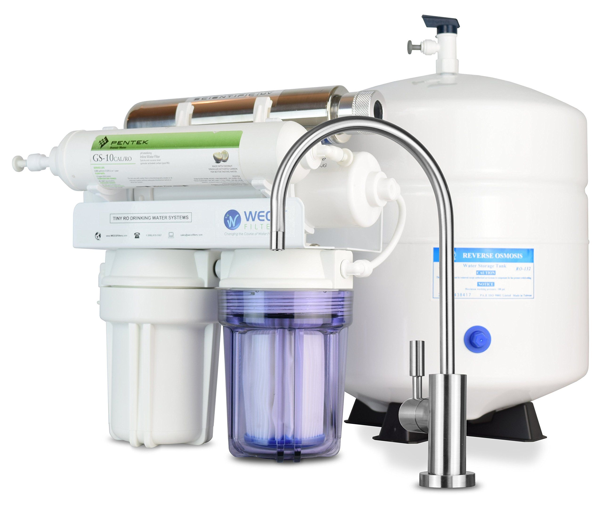 weco tiny compact undersink reverse osmosis water filtration systems