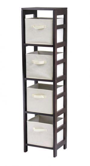 Storageshelvesbaskets Com Capri Tall Narrow Storage Shelves With