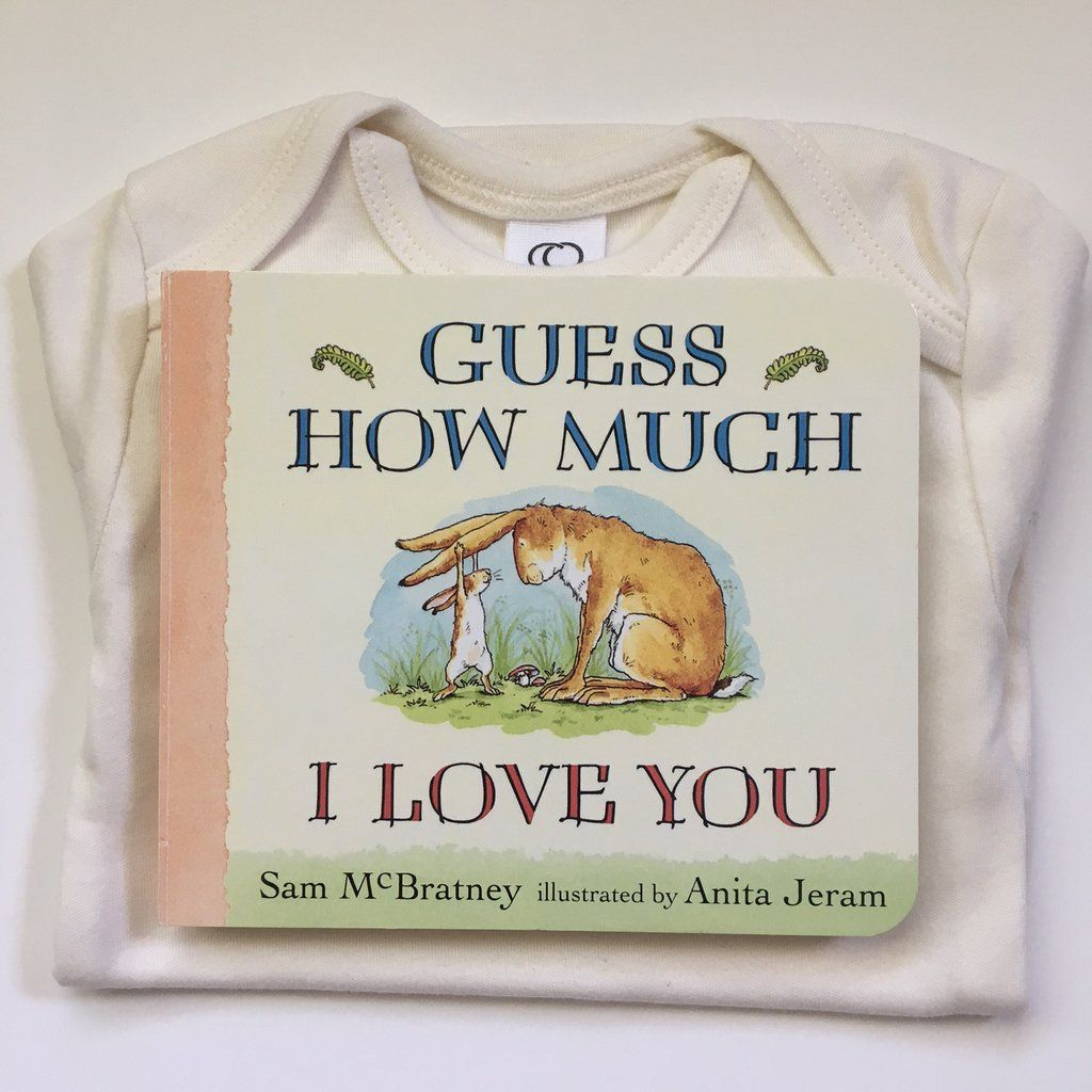 Books and bodysuits gift set guess how much i love you