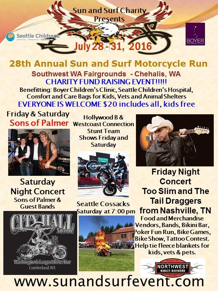 Chehalis Wa July 28 31 2016 28th Annual Sun And Surf