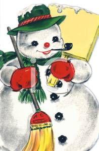 Vintage Snowman Clip Art
