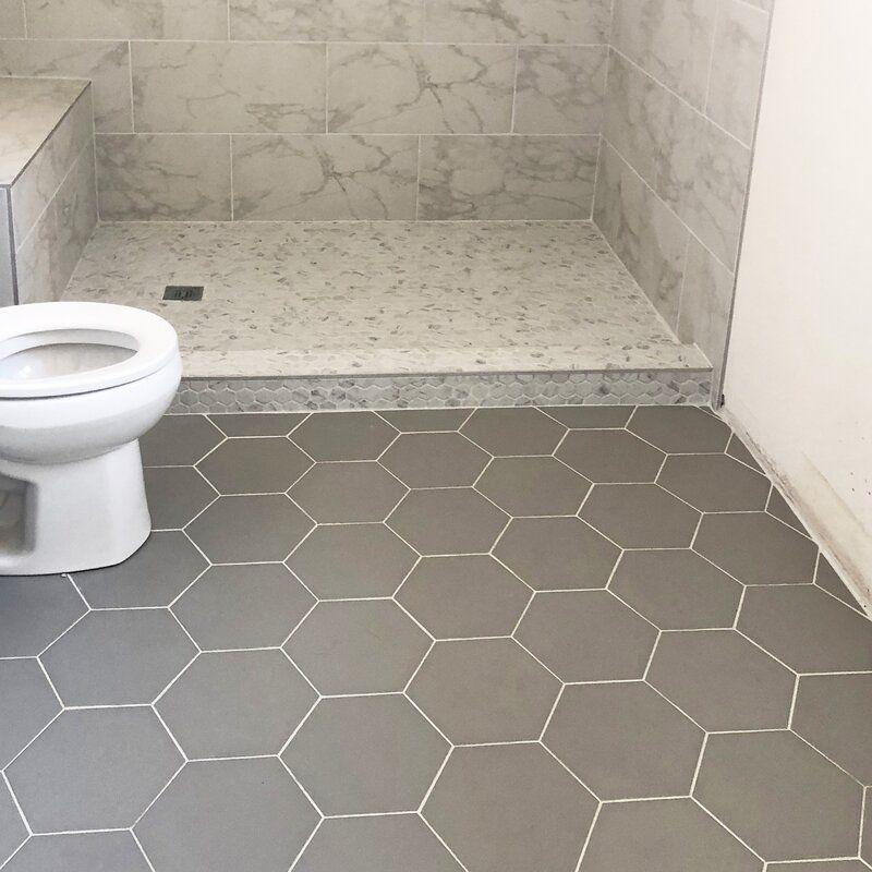 43+ Gray hexagon floor tile bathroom ideas
