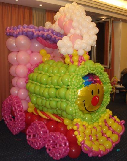 Balloon train by PKaskani cba Balloons Pinterest Globo - imagenes de decoracion con globos