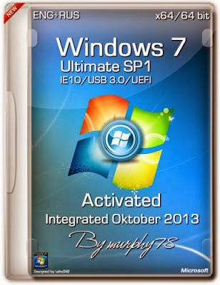 Windows 7 Ultimate Sp1 X86 X64 Ie10 Uefi Usb 3 0 Activated