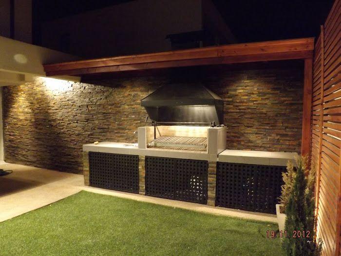 Quincho altos de huechuraba cocinas pinterest asador for Asadores modernos jardin