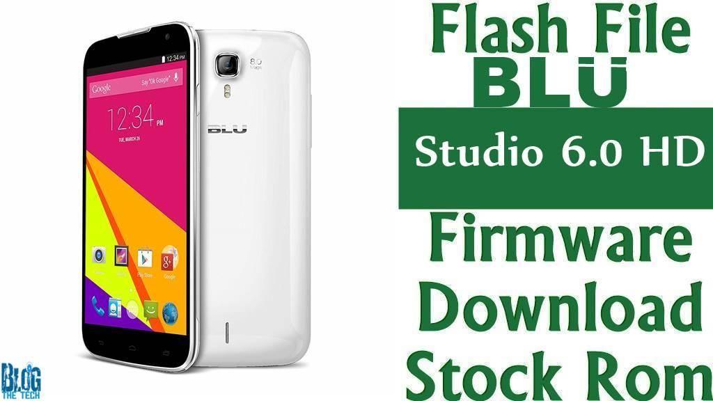 how to flash firmware to blu studio