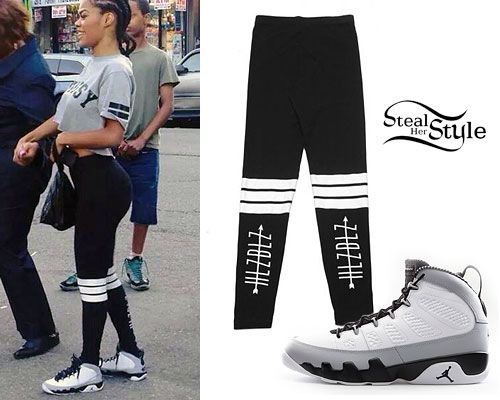separation shoes 1d551 fa85b air jordan retro 9 s tumblur   Teyana Taylor  Banded Leggings, Jordan 9′s .