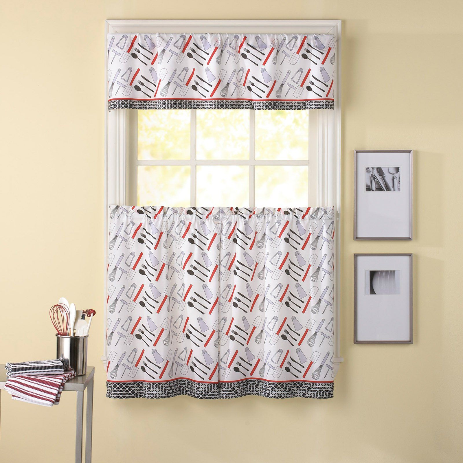 Have To Have It Chf Industries Cutlery 36 In Kitchen Curtain