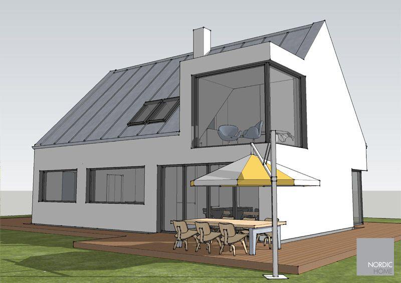ICON DG-123 m2 Architektenhaus Südwestperspektive   – Dachgaube