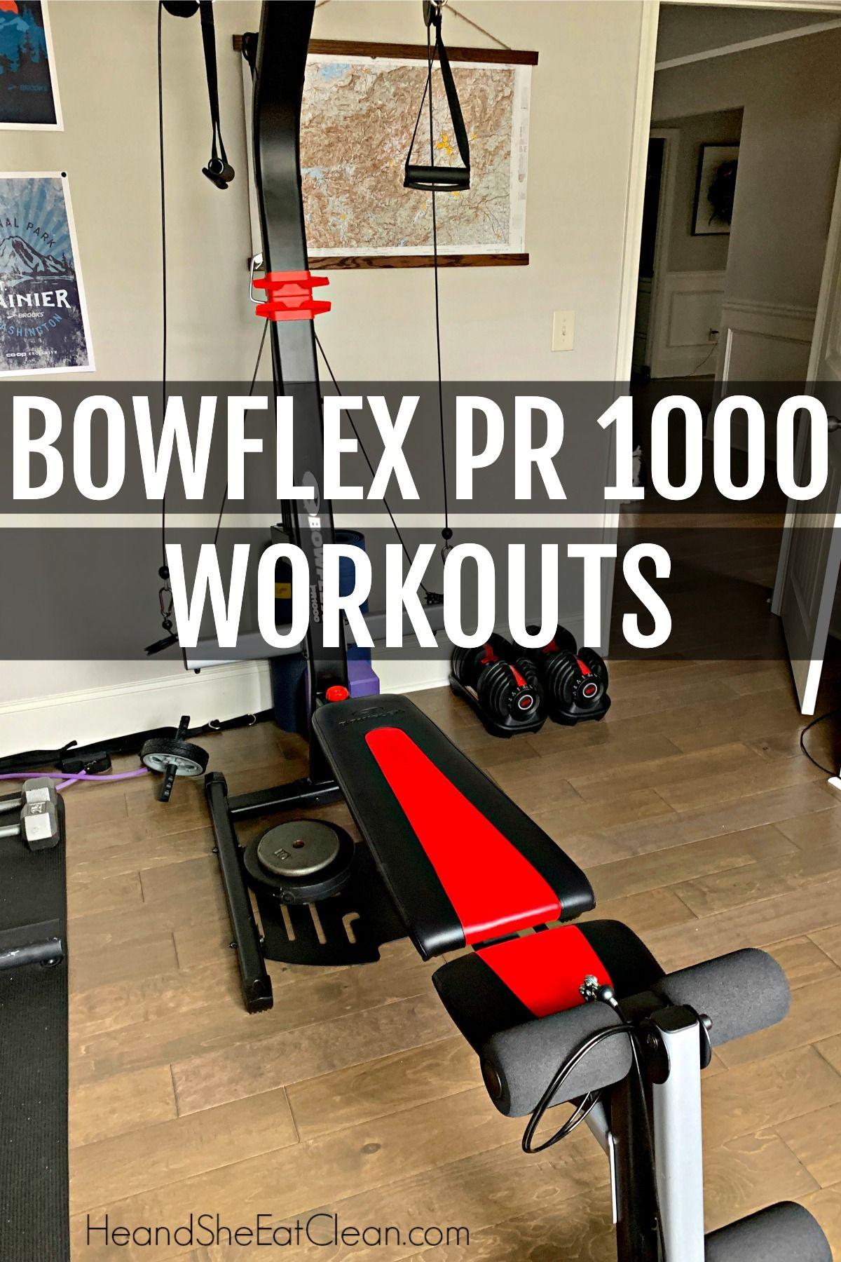 Bowflex pr1000 workouts with video in 2020 bowflex