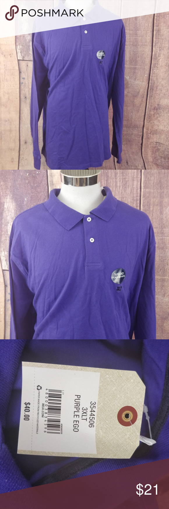 New Saddlebred Long Sleeve Polo Shirt Mens 3xlt Nwt In 2018 My
