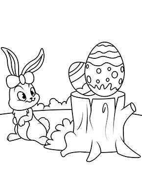 Ausmalbild Osterhase Mit Zwei Ostereiern Ostern Zeichnung Ausmalbilder Osterhase