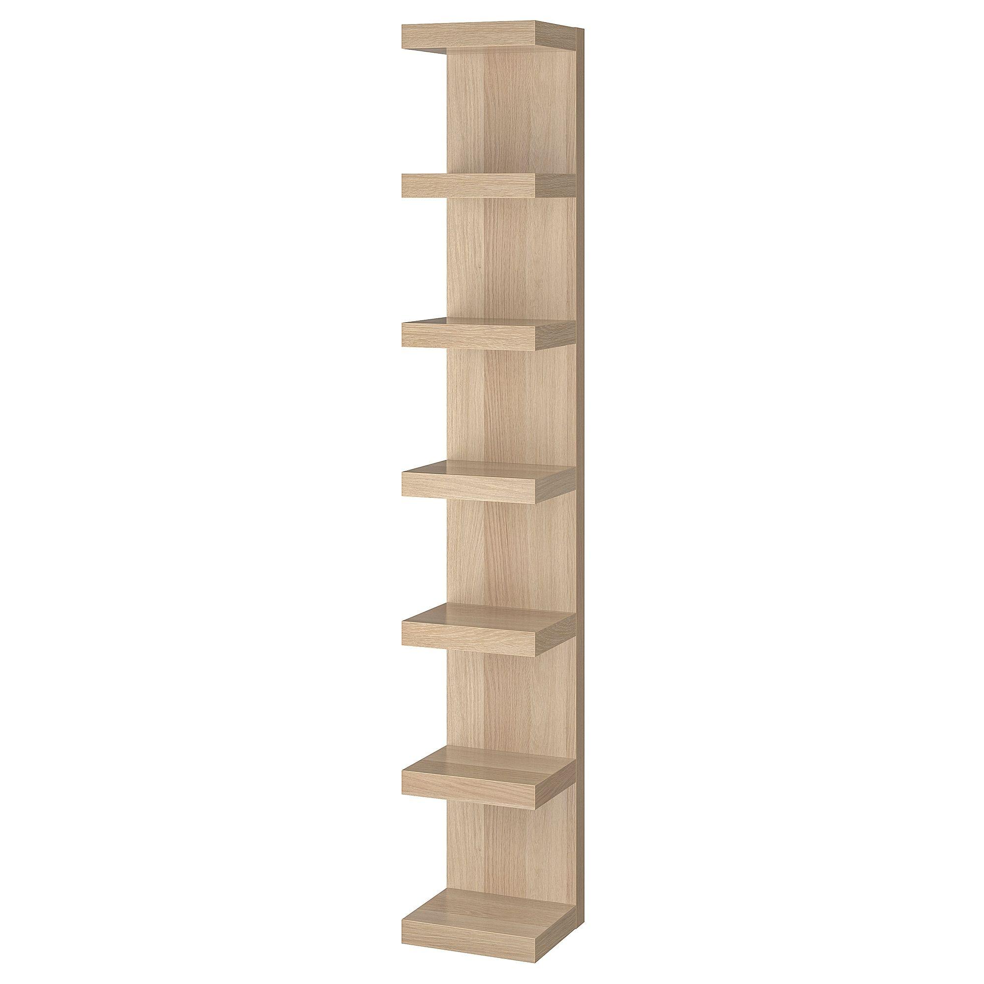 Lack Wall Shelf Unit White Stained Oak Effect 11 3 4x74 3 4 Ikea Wall Shelf Unit Ikea Lack Shelves Ikea Lack Wall Shelf