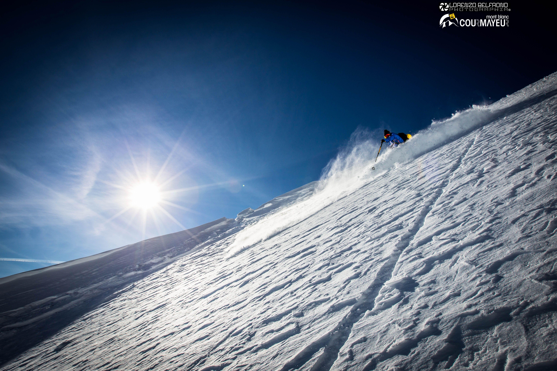 Freeride ski in Courmayeur Mont Blanc ph. Lorenzo Belfrond Photographia