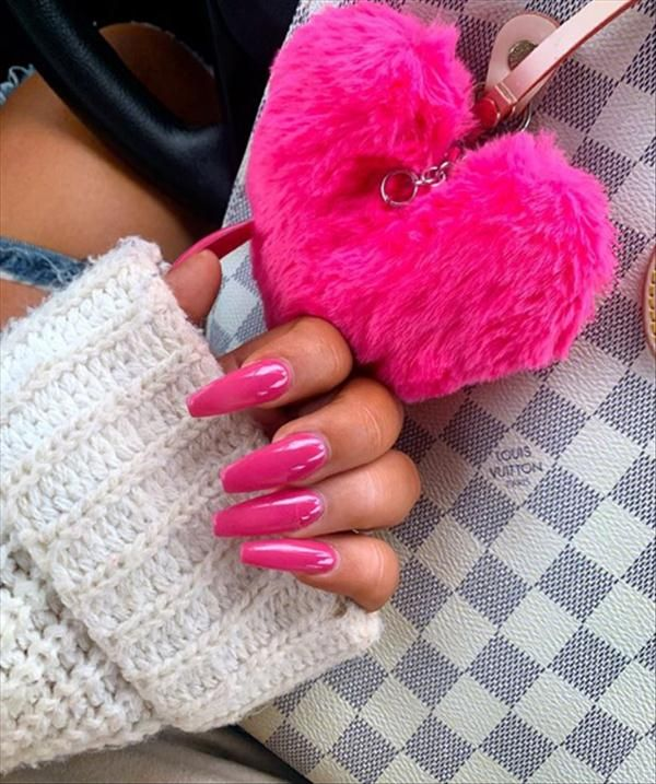 50 Pink Coffin Nailstyle For Cute Girl