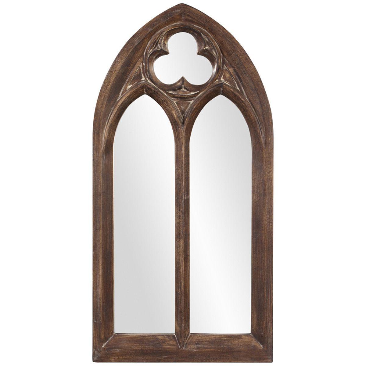 Window mirror decor  howard elliott basilica narrow arched mirror  arch mirror arch and