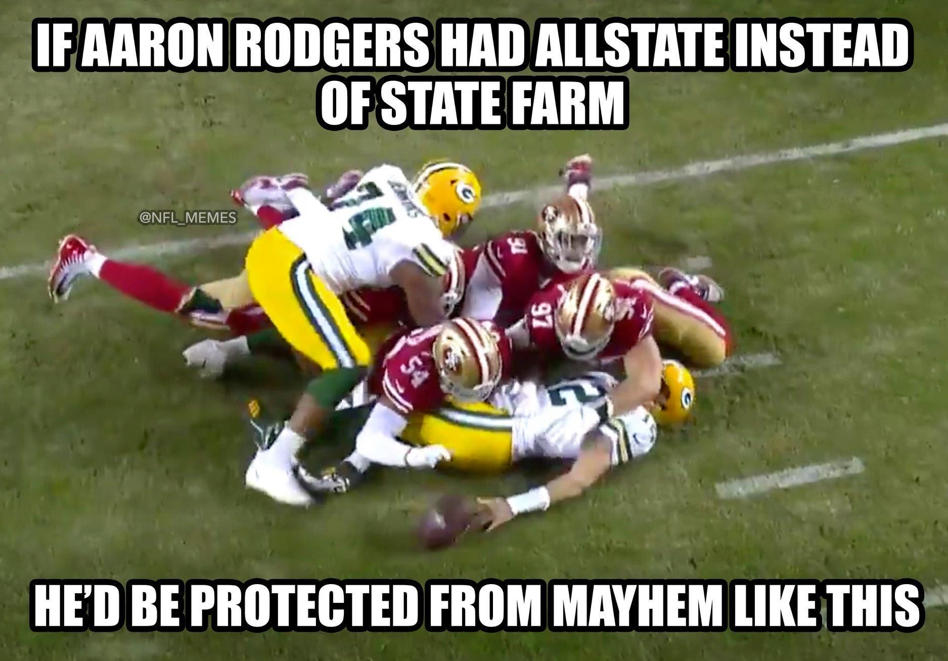 Pin By Jay Burd On Funny Animals In 2020 Aaron Rodgers Green Bay Memes Nfl Memes